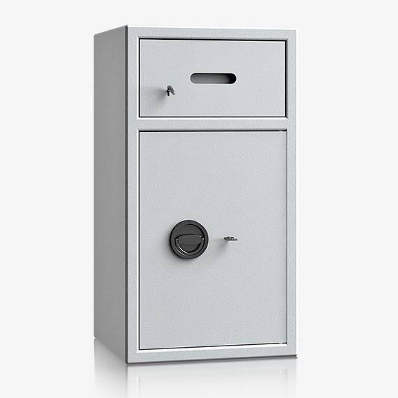 DSBB080V090IS - Einwurf-Stahlschrank nur Zugriffschutz, Schublade vorn mit Schloss