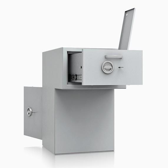 DS1D093R180IS - Deposit-Wertschutzschrank D-I, Schublade rückseitig mit Schloss, 270 mm überstehend