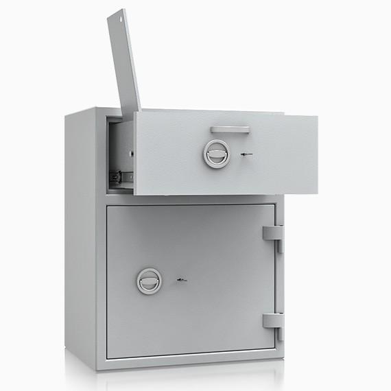 DS1D093V190IS - Deposit-Wertschutzschrank D-I, Schublade vorn mit Schloss, mit Münzablagefach
