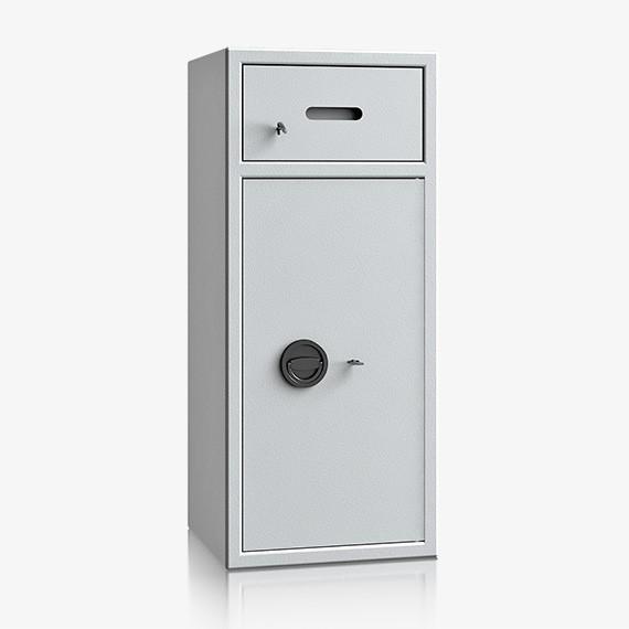 DSBB100V110IS - Einwurf-Stahlschrank nur Zugriffschutz, Schublade vorn mit Schloss