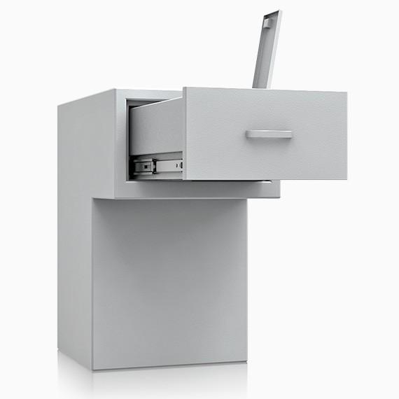 DS1D093S195IS - Deposit-Wertschutzschrank D-I, Schublade rückseitig ohne Schloss, 270 mm überstehend