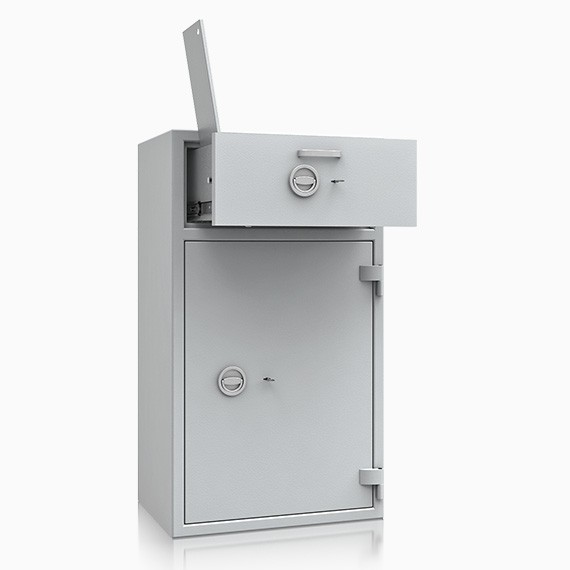 DS1D128V240IS - Deposit-Wertschutzschrank D-I, Schublade vorn mit Schloss, mit Münzablagefach