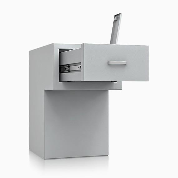 DS2D095S363IS - Deposit-Wertschutzschrank D-II, Schublade rückseitig ohne Schloss, 270 mm überstehend