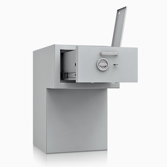 DS3D095R560IS - Deposit-Wertschutzschrank D-III, Schublade rückseitig überstehend mit Schloss