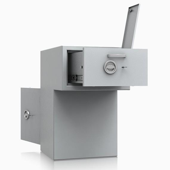 DS2D095R328IS - Deposit-Wertschutzschrank D-II, Schublade rückseitig mit Schloss, 270 mm überstehend