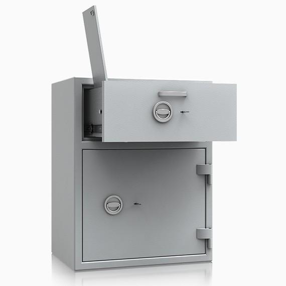DS2D095V340IS - Deposit-Wertschutzschrank D-II, Schublade vorn mit Schloss, mit Münzablagefach